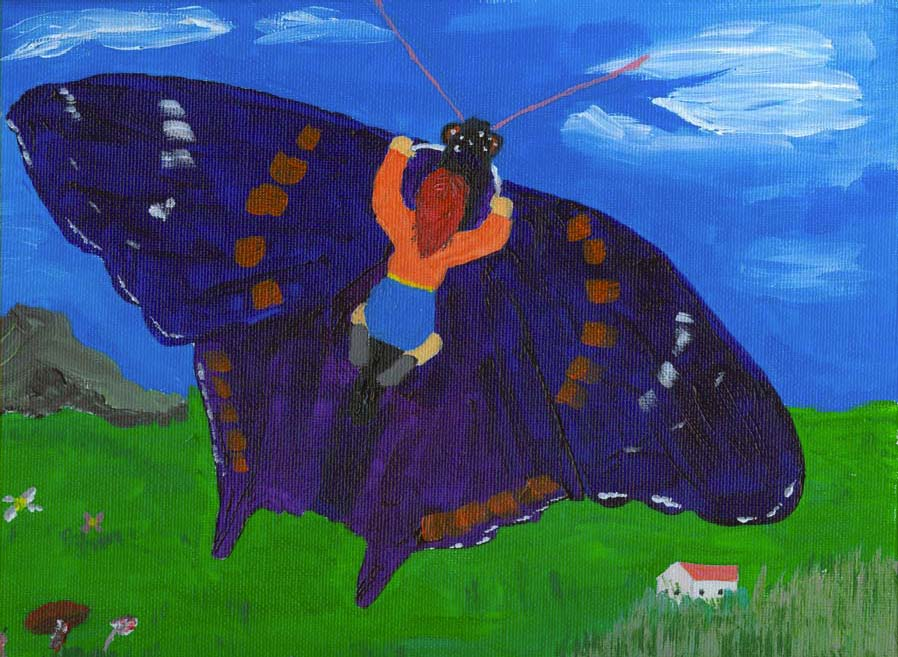 Giant Purple Butterfly and other childrens stories